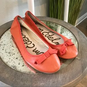 Sam Edelman | Milly Orange Leather Ballet Flats
